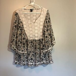 Torrid Blouse with Cape-like Sleeves